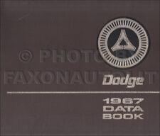 1967 Dodge Data Book Dealer Album Charger Coronet Dart Monaco Polara Facts