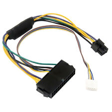 US ATX 24-Pin to 6-Pin PCI-E PSU Power Adapter for HP Elite 8100 8200 8300