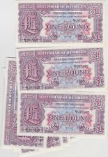 More details for 10 consecutive £1 2nd series mint condition military armed forces banknotes