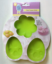 Wilton 3 Cavity Silicone Easter Bunny Butt  Cake Topper Mold Bake & Freeze-  New