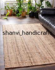 Natural Jute Rectangle Braided Rug 3x4 Feet Handmade Area Floor Carpet Rag Rugs