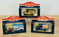 LLEDO - PEPSI COLA  3 DIE CAST COLLECTABLE MODELS BOXED.