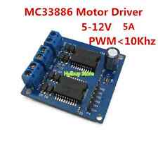 New Dual MC33886 Motor Power Driver Module For Robot Smart car 5V-12V 6V 9V 5A