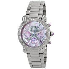 "NEW $1390 JBW Womens JB-6210-F ""Victory"" Pink Stainless Steel Diamond Watch"