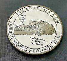 Titanic Silver 3D Coin Hologram Wreck UNESCO World Heritage Site Atlantic Ocean