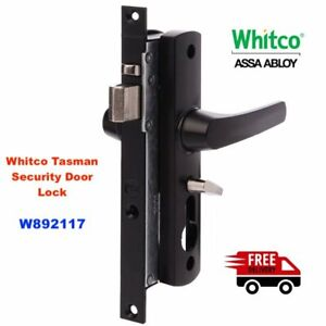 Security Door Lock-WHITCO TASMAN MK2 Screen W892117 Black NO CYL-FREE POSTAGE!