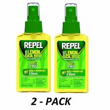 2pk Repel Lemon Eucalyptus Natural Insect Repellent 4-Ounce Pump Spray DEET-FREE