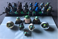 24 Pcs lego MOC Minifigures Mandalorian battle armor Boba Fett Yoda - Star War