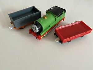 Tomy Trackmaster Thomas The Tank Engine Battery Train Percy and Trucks