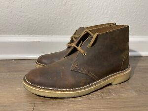 Clarks Beeswax chukka brown leather Desert boots Women's Size US 9 Nearly New