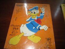 "Vintage DONALD DUCK Playskool Frame Tray Puzzle 190-2 VG- 9.5x11.5"" Disney"