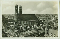 Alte Ansichtskarte Postkarte München Total mit Frauenkirche s/w