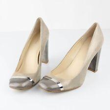 "Calvin Klein Womens Heels Shoes Pumps 3.75"" Metallic Heels Size 9 Taupe"