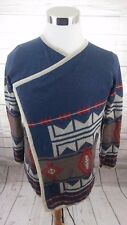 STACCATO SWEATER Open Front Cardigan Navajo Tribal Western Aztec Women's Sz M/L