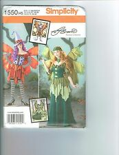 Simplicity 1550 Miss 6-8-10-12-14 Fairy,Witch,Peasant,Princesss costume pattern