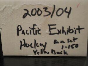 2003/2004 Pacific Exhibit YELLOW BACKS Complete Set 1-150