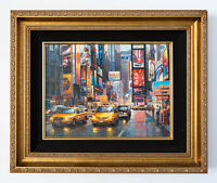 Times Square Original Signed Framed Oil on Canvas Painting | Free Shipping
