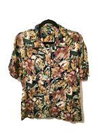 Vintage M HIBISCUS COLLECTION HAWAII Shirt Floral Pattern Hawaiian Medium Womens