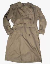 LONDON Club Long RAINCOAT Rain Trench Coat Mens Size 38 Regular Belted