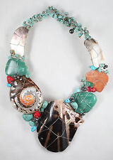 NEW HandmadeTurquoise and shell Necklace