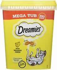 Dreamies Cat Treats with Cheese Mega Tub, 350 g Pack of 2