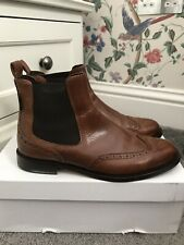 Russell & Bromley Brown Cadogan Calf Leather Chelsea Boots Size UK 7 EU 40