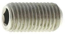 Stainless Steel Metric M2 X 6mm Socket Head Set Screws Cup Point 10 Pack