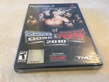 WWE SmackDown vs. Raw 2010 Featuring ECW (Sony PlayStation 2, 2009) PS2 RARE NEW