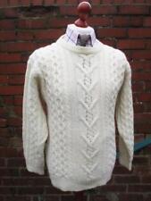 95e4d90cc1189 S - Vintage Aran Jumper Shetland Wool Cable Knit Sweater Pullover Retro -  D114