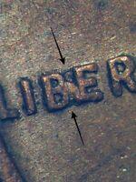 """1957 D Lincoln Wheat Cent XF Partial """"BIE"""" Error Coin"""