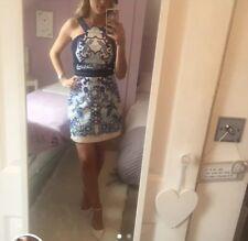 Three Floor Blue & White & Navy Dress (Self Portrait) UK 8