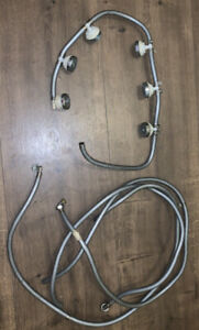 TA5 - SET OF 6 SPRAY JETS AND PIPES REMOVED FROM A STEAM SHOWER UNIT