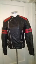 Vintage Campari Vanguard MK1 Leather Motorcycle Biker Jacket Small