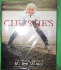 MARILYN  MONROE AUCTION BOOK
