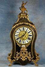New ListingLarge Antique French Boulle Inlay Wood Clock 18th Century