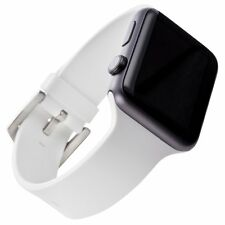 WITHit Apple Watch White Adult Unisex Silicone 42mm Replacement Band NEW