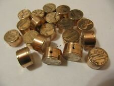 HANDMADE COPPER PIPE & LINCOLN PENNY BEADS 3D COIN JEWELRY LOT OF 6