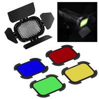 Barn Door Set for Portable Mini Pocket Flash Color Gel Kit Honeycomb Studio