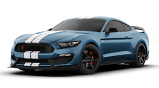 2019 Mustang Shelby Cobra GT350R Garage Steel Sign Performance Blue White Stripe