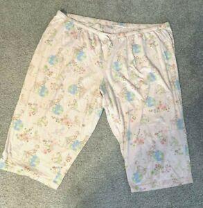 Avenue Body Dream Green Pink Capri Lounge/Sleep Pants, Women's Size 30/32
