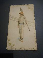 SUPERBA litografiche Vittoriano cartolina di Natale con bambino marittimo come ROWER?
