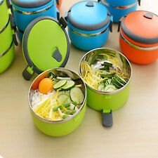 AU 1/2/3/4 Layer Stainless Steel Insulated  Food Thermal Container Lunch Box HX