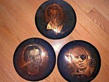 3 Copper Engravings - Israel Golda Meier / Moshe Dyan + Sipahi, Istanbul