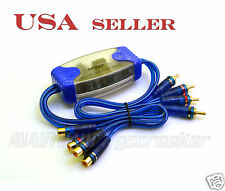 4 Channel RCA Ground Loop Isolator for Car Audio High/Low Level Converter 3054