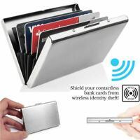 Aluminum Metal Slim Scan Credit Card Holder RFID Blocking Wallet Case New