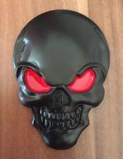 3D Skull Emblem Sticker Decal for Car Motorbike (UK SELLER) 78mm x 55mm