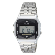 Casio A159WAD-1DF Stainless Steel Resin Strap Watch