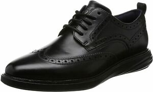 Mens Cole Haan GrandEvolution Shortwing Ox - Black Leather, Size 11W [C26306]