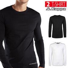 2 Pack T-shirt Uomo KAPPA Maglietta Intima Caldo Cotone Maglia Manica Lunga