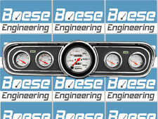 65 66 Mustang Black Dash Bezel w/ Auto Meter Phantom Gauges Instrument Cluster